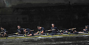 LONDON, ENGLAND - Thursday  13/12/2012 : losing Oxford University crew,?Hurricane? Bow: James Stephenson, 2: Oliver Bristowe, 3: Joseph Dawson, 4: Benjamin French ,5: Karl Hudspith?6: Constantine Louloudis, 7: Dr. Alex Woods, Stroke: William Zeng and ?Cox: Katie Apfelbaum after  the annual Varsity trial 8's for The BNY Melon University Boat Race over the Championship Course [Putney to Mortlake]. The River Thames, England. (Mandatory Credit/ Peter  Spurrier/Intersport Imag