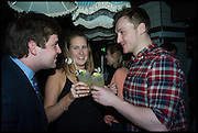 JAMIE STEPHENSEN; ANNA WILLS; BROOKE GILKES, , Cahoots club launch party, 13 Kingly Court, London, W1B 5PW  26 February 2015