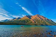Kathleen Lake, Kluane Ranges, the easternmost of the St Elias Mountains. <br />Kluane National Park<br />Yukon<br />Canada
