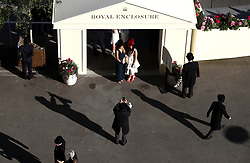Racegoers during day four of Royal Ascot at Ascot Racecourse. PRESS ASSOCIATION Photo. Picture date: Friday June 22, 2018. See PA story RACING Ascot. Photo credit should read: John Walton/PA Wire. RESTRICTIONS: Use subject to restrictions. Editorial use only, no commercial or promotional use. No private sales.