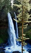 USA, Oregon, Silver Falls State Park, North Falls, Digital Composite, HDR, Panorama