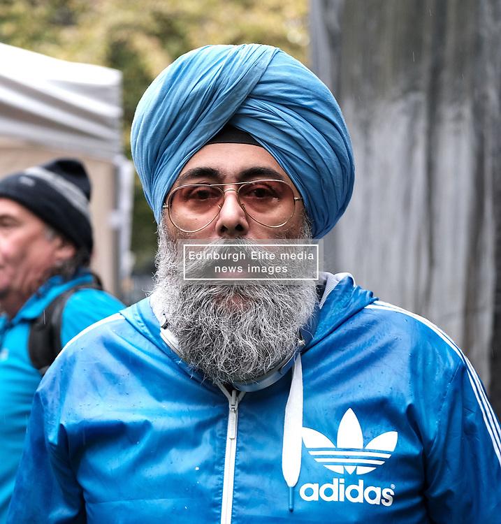 All Under One Banner March, Edinburgh, 5 October 2019<br /> <br /> Pictured: Hardee's Singh Kohli<br /> <br /> Alex Todd | Edinburgh Elite media