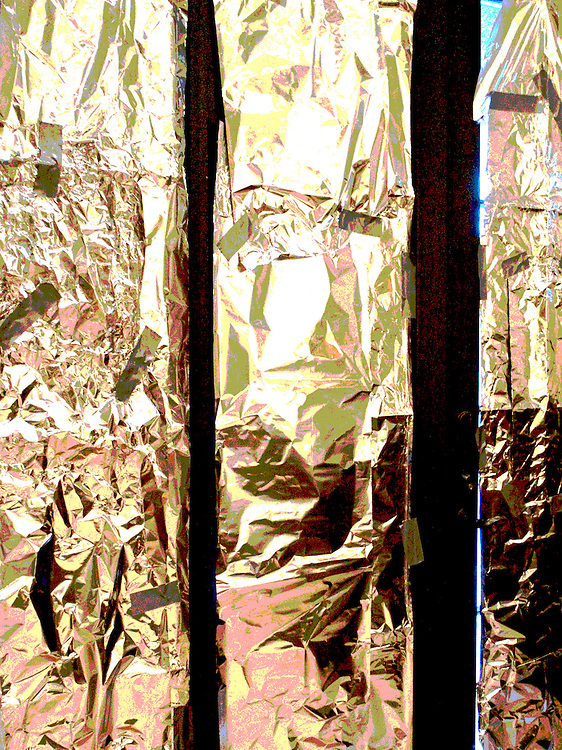 Her bedroom sliding doors were covered with foil.  I had tried to help her buy curtains-  but she was too depressed to do it or to let me do it for her. They were there that day, a reminder of a terrible illness.