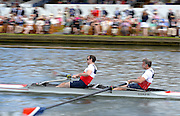 Henley on Thames. United Kingdom.  Silver Goblets and Nickalls' Roders and Leach, moving through the Stewards Enclousure,   2013 Henley Royal Regatta, Henley Reach.  Thursday  04/07/2013  [Mandatory Credit Peter Spurrier/ Intersport Images]<br /> <br /> Slow Shutter, Panning