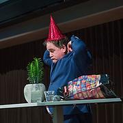 NLD/Hilversum/20190207- Opening Serieus Grappig tentoonstelling, opening door directeur Eppo van Nispen tot Sevenaer