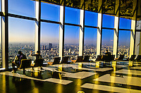 Tokyo city view from the 52nd floor observation deck of the Mori Tower, Roppongi Hills, Tokyo, Japan