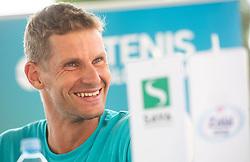 Blaz Rola during press conference of Tenis Slovenija, on August 11, 2020 in Portoroz / Portorose, Slovenia. Photo by Vid Ponikvar / Sportida