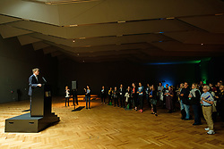 © Licensed to London News Pictures. 28/06/2017. London, UK. Tristram Hunt the V& A director makes a speech to open the new Sainsbury Gallery as part of the new V & A Exhibition Road Quarter. Photo credit: Ray Tang/LNP