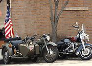 WW2 Bike Ural on Street of Brooklyn.