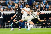 Real Madrid Pepe and Deportivo de la Coruña Florin Andone during La Liga match between Real Madrid and Deportivo de la Coruña at Santiago Bernabeu Stadium in Madrid, Spain. December 10, 2016. (ALTERPHOTOS/BorjaB.Hojas)