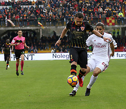 December 3, 2017 - Benevento, Campania/Napoli, Italy - Benevento, Italy. December 3, 2017: .The players gaetano letizia of Benevento and Borini Fabio of Milan contain the ball. The Benevento after 14 losses manages to equalize and make the first point in Serie A (Credit Image: © Fabio Sasso/Pacific Press via ZUMA Wire)