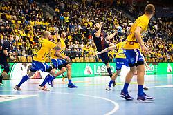SPG HB vs CPL during handball match between RK Celje Pivovarna Lasko (SLO) and Paris Saint-Germain HB (FRA) in VELUX EHF Champions League 2018/19, on February 24, 2019 in Arena Zlatorog, Celje, Slovenia. Photo by Peter Podobnik / Sportida
