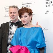 NLD/'Amsterdam/20170912 - Gala van Het Nationale Ballet , Chazia Mourali en partner Marc Schroder