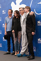 Reda Kateb, Sophie Semin, director Wim Wenders and  Jens Harzer at Les Beaux Jours d'Aranjuez (The Beautiful Days of Aranjuez) film photocall at the 73rd Venice Film Festival, Sala Grande on Thursday September 1st 2016, Venice Lido, Italy.