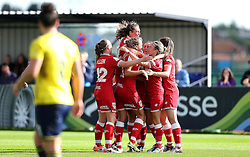 (Caption Correction) Bristol City Women celebrate Claire Emslie's first goal against Oxford United Women - Mandatory by-line: Robbie Stephenson/JMP - 25/06/2016 - FOOTBALL - Stoke Gifford Stadium - Bristol, England - Bristol City Women v Oxford United Women - FA Women's Super League 2