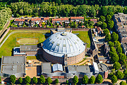 Nederland, Gelderland, Arnhem, 29-05-2019; (voormalige) Koepelgevangenis De Berg aan de Wilhelminatraat in Lombok, nu in gebruik bij COA, centraal orgaan asielzoekers.<br /> (former) prison (with dome or cupola) in Lombok, now in use at COA, central body for asylum seekers.<br /> <br /> luchtfoto (toeslag op standard tarieven);<br /> aerial photo (additional fee required);<br /> copyright foto/photo Siebe Swart