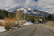 State Route Highway 88 through Hope Valley, Alpine County, California