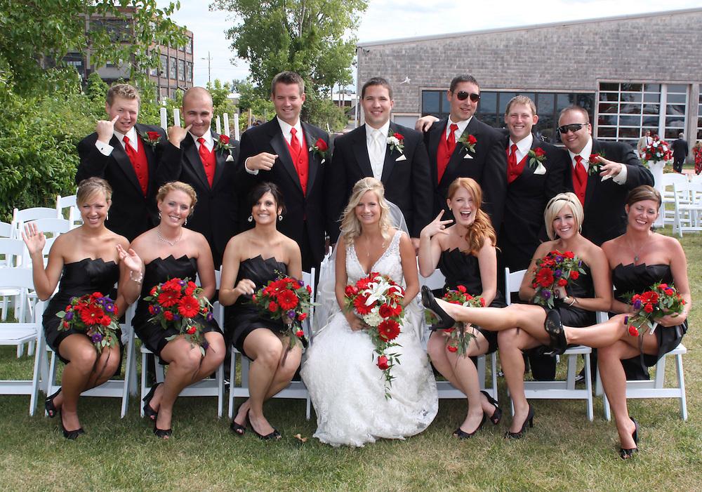 Wedding Party Sandusky, Ohio Cleveland Wedding Photography