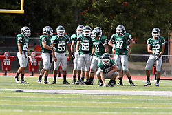 28 September 2013:  IWU Titan Kick-off squad during an NCAA division 3 football game between the Hope College Flying Dutchmen and the Illinois Wesleyan Titans in Tucci Stadium on Wilder Field, Bloomington IL