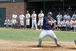 22 April 2006:  ....Viking Jim Wignall sways back to avoid a close pitch.....In CCIW, Division 3 action, the Titans of Illinois Wesleyan capped the Auggies of Augustana College by a scor of 3-2 in game one of a double card afternoon.  Games were held at Jack Horenberger field on the campus of Illinois Wesleyan University in Bloomington, Illinois