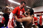 DESCRIZIONE : Milano Lega A 2013-14 EA7 Emporio Armani Milano vs Montepaschi Siena playoff Finale gara 7<br /> GIOCATORE : Luca Banchi Keith Langford<br /> CATEGORIA : postgame post game<br /> SQUADRA : EA7 Emporio Armani Milano<br /> EVENTO : Finale gara 7 playoff<br /> GARA : EA7 Emporio Armani Milano vs Montepaschi Siena playoff Finale gara 7<br /> DATA : 27/06/2014<br /> SPORT : Pallacanestro <br /> AUTORE : Agenzia Ciamillo-Castoria/M.Marchi<br /> Galleria : Lega Basket A 2013-2014  <br /> Fotonotizia : Milano<br /> Lega A 2013-14 EA7 Emporio Armani Milano vs Montepaschi Siena playoff Finale gara 7<br /> Predefinita :