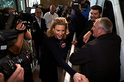 Financier Amanda Staveley arrives at St James' Park, Newcastle. The end of the Mike Ashley era brought celebrations and controversy in equal measure as Newcastle's new owners targeted trophies while human rights groups accused them of 'sportswashing' human rights abuses. Picture date: Friday October 8, 2021.