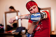 Berlin, Allemagne. 11 Decembre 2010..Championnat Allemand de Roller Derby..Berlin, Germany. December 11th 2010..Roller Derby German Championship