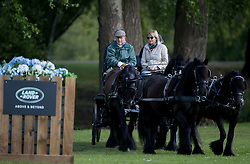 The Duke of Edinburgh at the Royal Windsor Horse Show, which is held in the grounds of Windsor Castle in Berkshire.