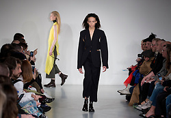 Models during the Ports 1961 Autumn/Winter 2017 London Fashion Week show at Victoria House, London. PRESS ASSOCIATION. Picture date: Saturday February 18, 2017. Photo credit should read: Isabel Infantes/PA Wire