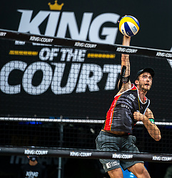 Clemens Wickler GER in action during the last day of the beach volleyball event King of the Court at Jaarbeursplein on September 12, 2020 in Utrecht.