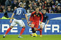 FOOTBALL - INTERNATIONAL FRIENDLY GAMES 2011/2012 - FRANCE v BELGIUM - 15/11/2011 - PHOTO JEAN MARIE HERVIO / DPPI - EDEN HAZARD (BEL) / KARIM BENZEMA / ANTHONY REVEILLERE (FRA)