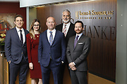 SHOT 1/8/19 12:19:29 PM - Bachus & Schanker LLC lawyers James Olsen, Maaren Johnson, J. Kyle Bachus, Darin Schanker and Andrew Quisenberry in their downtown Denver, Co. offices. The law firm specializes in car accidents, personal injury cases, consumer rights, class action suits and much more. (Photo by Marc Piscotty / © 2018)