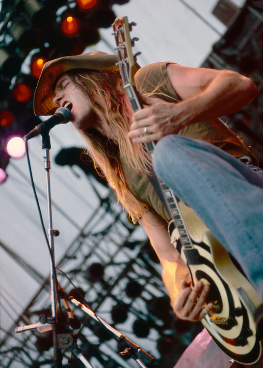 SCRANTON - AUGUST 14: Zakk Wylde of Pride and Glory performs at Montage Mountain on August 14, 1994 in Allentown, Pennsylvania. (Photo by Lisa Lake)
