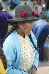 Woman At Pisco Market