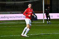 Daniel Ayala (4) of Middlesbrough warming up before the The FA Cup match between Newport County and Middlesbrough at Rodney Parade, Newport, Wales on 5 February 2019.
