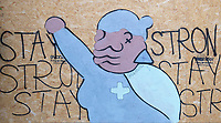 Stay strong street art  at the Garrick Arms photo by brian jordan