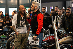 Ms Artrix's Massimo Gullone of Italy at the MBE award finals at Motor Bike Expo (MBE) bike show. Verona, Italy. Friday, January 17, 2020. Photography ©2020 Michael Lichter.
