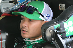 September 29, 2018 - Charlotte, NC, U.S. - CHARLOTTE, NC - SEPTEMBER 29: #42: Kyle Larson, Chip Ganassi Racing, Chevrolet Camaro Clover/First Data in the garages during the Monster Energy NASCAR Cup Series Playoff Race - Bank of America ROVAL 400 on September 29, 2018, at Charlotte Motor Speedway in Concord, NC. (Photo by Jaylynn Nash/Icon Sportswire) (Credit Image: © Jaylynn Nash/Icon SMI via ZUMA Press)