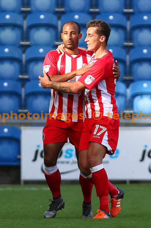 Romuald Boco of Accrington Stanley (14) during the Sky Bet League 2 match between Colchester United and Accrington Stanley at the Weston Homes Community Stadium in Colchester. September 24, 2016.<br /> Arron Gent / Telephoto Images<br /> +44 7967 642437