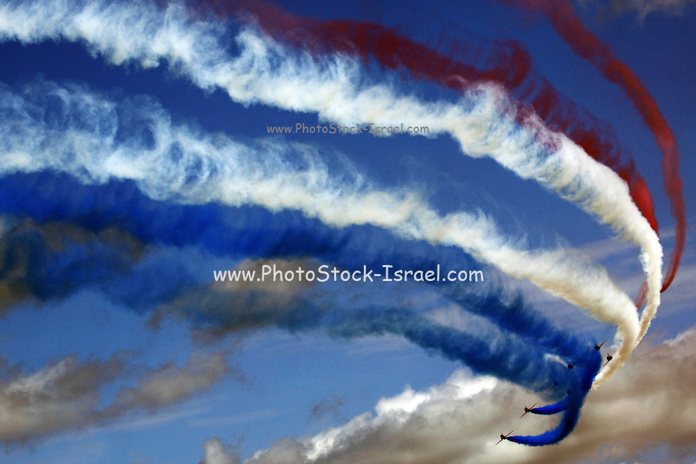 Royal Air Force Aerobatic Team Red Arrows at the Royal International Air Tattoo (RIAT) Air Show July 2009