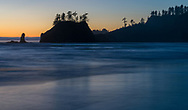 Sunset on Second Beach, Olympic NP.