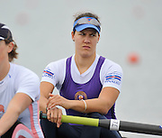 Eton, United Kingdom  GBR W2- Bow. Jess EDDIE and Louisa REEVE, at the start of their heat of the women's pair at the 2012 GB Rowing Senior Trials, Dorney Lake. Nr Windsor, Berks.  Saturday  10/03/2012  [Mandatory Credit; Peter Spurrier/Intersport-images]