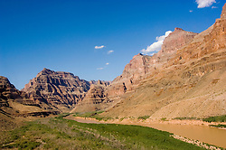 Scenic, Grand Canyon, Colorado River, Arizona, AZ, cliffs, landscape, horizontal, arid, erosion, nature, muddy water, Image nv452-18800.Photo copyright: Lee Foster, www.fostertravel.com, lee@fostertravel.com, 510-549-2202