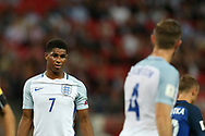Marcus Rashford of England looks on.  FIFA World cup qualifying match, European group F, England v Slovakia at Wembley Stadium in London on Monday 4th September 2017.<br /> pic by Andrew Orchard, Andrew Orchard sports photography.