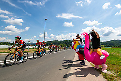 Peloton and fans during 3rd Stage of 27th Tour of Slovenia 2021 cycling race between Brezice and Krsko (165,8 km), on June 11, 2021 in Slovenia. Photo by Matic Klansek Velej / Sportida