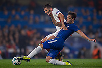 Cesc Fabregas of Chelsea and Maxime Gonalons<br /> Londra 18-10-2017 Stamford Bridge Football Champions League 2017/2018 Chelsea - Roma <br /> Foto Salvio Calabrese / Insidefoto