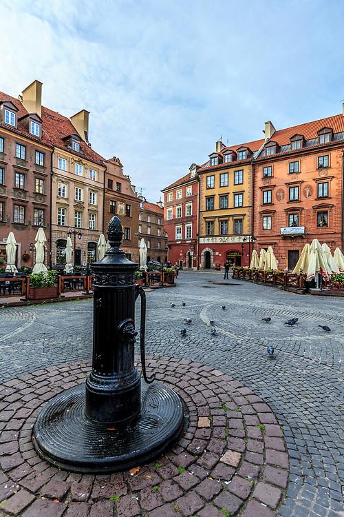 The Old Town Square  (Rynek Starego Miasta) in Warsaw, Poland.