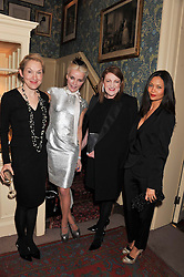 Left to right, JUSTINE PICARDIE, DAPHNE GUINNESS, GLENDA BAILEY and THANDIE NEWTON at a party hosted by Justine Picardie, Editor-in-Chief of Harper's Bazaar UK and Glenda Bailey, Editor-in-Chief of Harper's Bazaar US to celebrate the end of London Fashion Week and the biggest-ever March issues of Harper's Bazaar, held at Mark's Club, Charles Street, London on 19th February 2013.