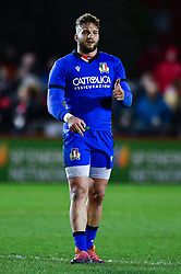 Federico Mori of Italy<br /> <br /> Photographer Craig Thomas/Replay Images<br /> <br /> U20 Six Nations - Wales v Italy  - Friday 31st January 2020 - Stadiwm Zip World (Parc Eirias) - Colwyn Bay<br /> <br /> World Copyright © Replay Images . All rights reserved. info@replayimages.co.uk - http://replayimages.co.uk