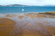 Beach at low tide, Swansea bay, Mumbles, Gower peninsula, South Wales, UK